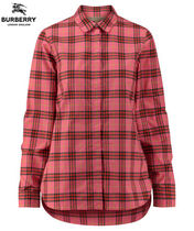 Burberry Other Check Patterns Casual Style Long Sleeves Cotton