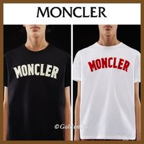 MONCLER Crew Neck Pullovers Unisex Cotton Short Sleeves