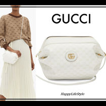GUCCI Monogram Casual Style Canvas Blended Fabrics Shoulder Bags