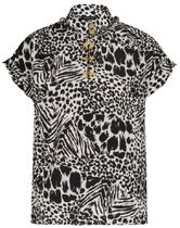 Louis Vuitton Silk Other Animal Patterns Medium Short Sleeves