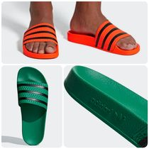 adidas ADILETTE Stripes Unisex Street Style Collaboration Shower Shoes
