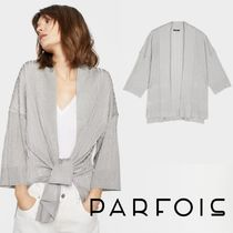 PARFOIS Casual Style Cropped Plain Medium Cardigans