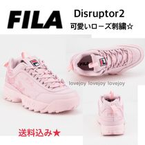 FILA Flower Patterns Lace-up Low-Top Sneakers