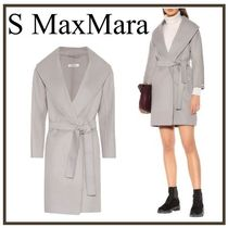 S Max Mara Casual Style Wool Plain Medium Wrap Coats