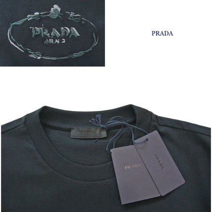 PRADA Crew Neck Crew Neck Cotton Short Sleeves Crew Neck T-Shirts 2