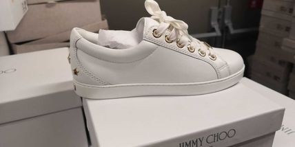 Jimmy Choo Star Plain Toe Rubber Sole Casual Style Street Style Plain
