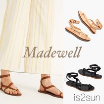 Madewell Open Toe Casual Style Plain Leather Sandals Sandal