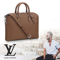 Louis Vuitton TAURILLON Street Style 2WAY Plain Leather Business & Briefcases