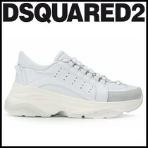 D SQUARED2 Round Toe Rubber Sole Casual Style Plain Low-Top Sneakers