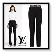 Louis Vuitton Monogram Wool Plain Long Elegant Style Pants