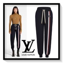 Louis Vuitton Stripes Monogram Casual Style Cashmere Street Style Long