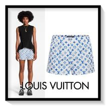 Louis Vuitton Printed Pants Short Monogram Casual Style Nylon Shorts
