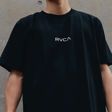 RVCA More T-Shirts Unisex Plain Short Sleeves T-Shirts 3