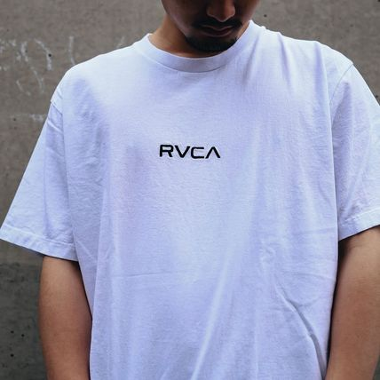 RVCA More T-Shirts Unisex Plain Short Sleeves T-Shirts 4