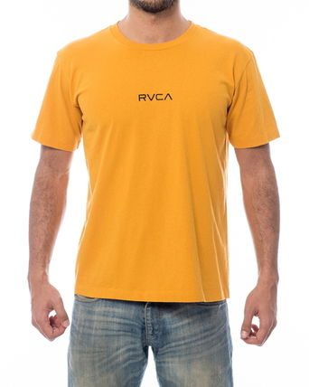 RVCA More T-Shirts Unisex Plain Short Sleeves T-Shirts 5