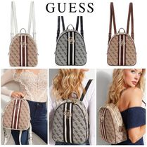 Guess Monogram Casual Style Backpacks
