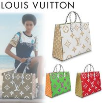 Louis Vuitton Monogram Unisex A4 2WAY Leather Handbags