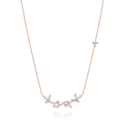 Chain With Jewels 14K Gold Elegant Style