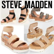 Steve Madden Open Toe Platform Casual Style Platform & Wedge Sandals