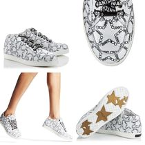 Jimmy Choo Star Casual Style Leather Handmade Low-Top Sneakers