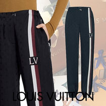 Louis Vuitton Monogram Sweat Blended Fabrics Street Style Bi-color