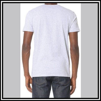 EMPORIO ARMANI V-Neck Pullovers Street Style V-Neck Plain Cotton Short Sleeves 6