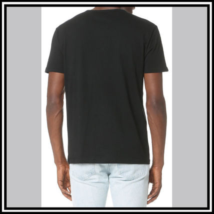EMPORIO ARMANI V-Neck Pullovers Street Style V-Neck Plain Cotton Short Sleeves 9