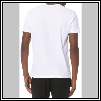 EMPORIO ARMANI V-Neck Pullovers Street Style V-Neck Plain Cotton Short Sleeves 12