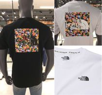 THE NORTH FACE WHITE LABEL Flower Patterns Unisex Street Style T-Shirts