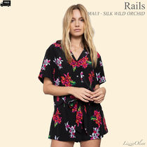 Ron Herman Flower Patterns Tropical Patterns Casual Style Silk Medium