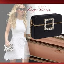 Roger Vivier Chain Plain Party Style With Jewels Clutches