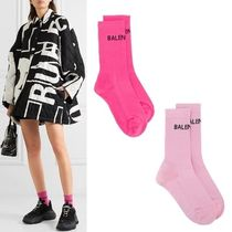 BALENCIAGA Unisex Street Style Plain Cotton Socks & Tights
