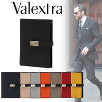 Valextra Iside Calfskin Street Style Bi-color Folding Wallets