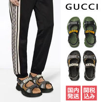 GUCCI Unisex Blended Fabrics Street Style Sport Sandals