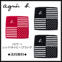 Agnes b Stripes Unisex Cotton Handkerchief