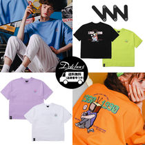 WV PROJECT Crew Neck Unisex Street Style Cotton Short Sleeves Oversized