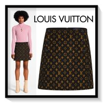 Louis Vuitton Short Monogram Wool Skirts