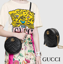 GUCCI GG Marmont Casual Style Calfskin Street Style Party Style Office Style