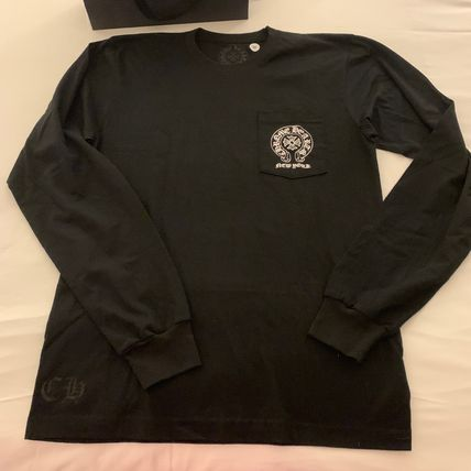 CHROME HEARTS Long Sleeve Crew Neck Unisex Street Style Long Sleeves Plain Cotton 5