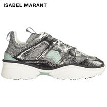 Isabel Marant Round Toe Rubber Sole Casual Style Low-Top Sneakers