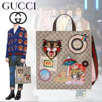 GUCCI Monogram Canvas 2WAY Other Animal Patterns Totes