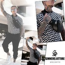 SINNERS ATTIRE Henry Neck Street Style Short Sleeves Henley T-Shirts