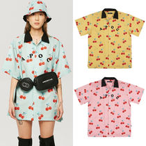 A PIECE OF CAKE Tropical Patterns Casual Style Unisex Street Style