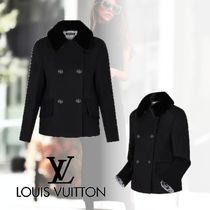 Louis Vuitton Wool Plain Peacoats