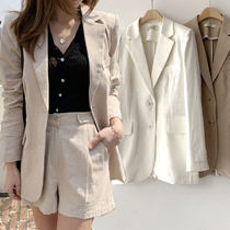 Casual Style Plain Jackets