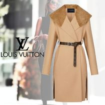Louis Vuitton Monogram Cashmere Plain Elegant Style Coats