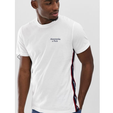 Abercrombie & Fitch Crew Neck Crew Neck Unisex Street Style Plain Cotton Short Sleeves 2