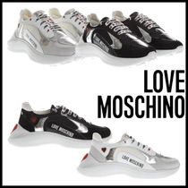 Love Moschino Heart Round Toe Rubber Sole Casual Style Low-Top Sneakers