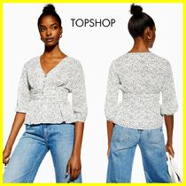 TOPSHOP Casual Style Cropped Medium Shirts & Blouses