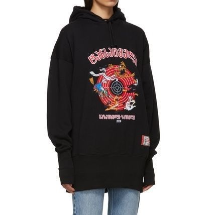 VETEMENTS Hoodies Unisex Street Style Plain Oversized Hoodies 5